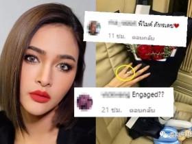 【泰国娱乐】Pooklook Fonthip 发照晒玫瑰花与左手无名指的戒指