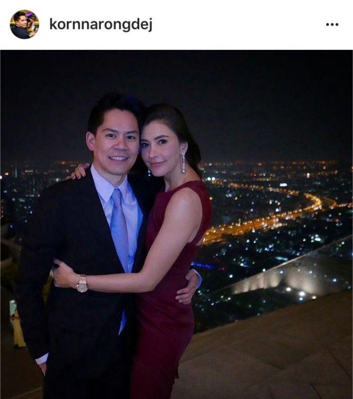 【泰娱新闻】Rita Sririta 承认与 Korn Narongdej 的恋爱关系