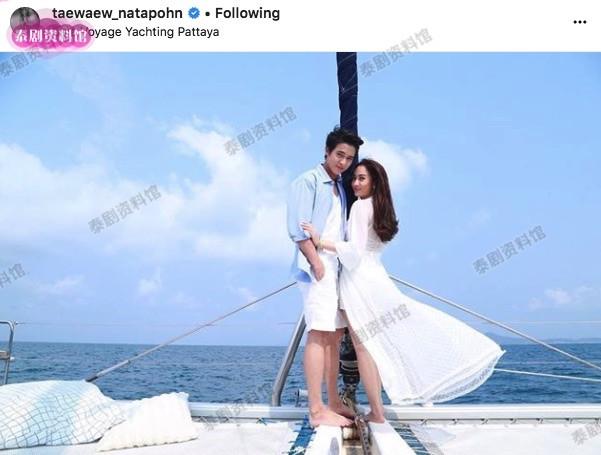 【泰娱新闻】James Jirayu 和 Taew 海边拍摄甜蜜场景
