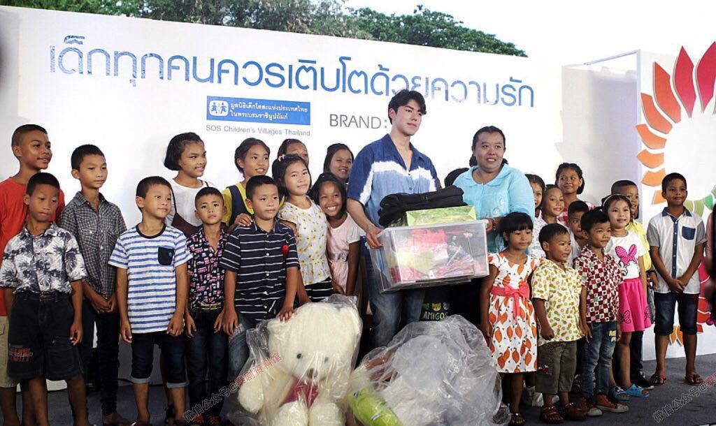 【泰国娱乐】Nine Naphat 22岁生日和粉丝们一起做善事