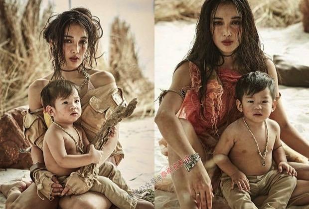 【泰国娱乐】Pat Napapa 第一次带儿子 Nong Racing 拍摄时尚写真