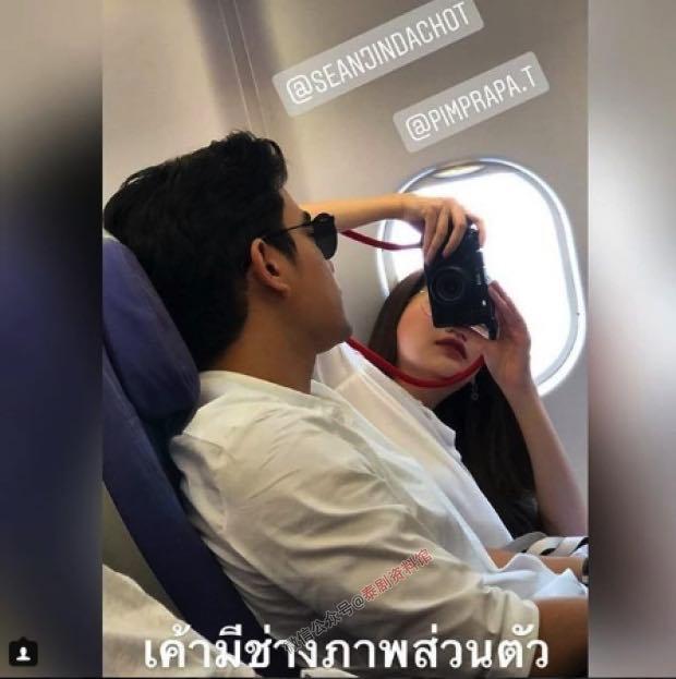 【泰国娱乐】Sean Jindachot 与 Pimmy Pimprapa 穿情侣装现身机场,网友沸腾