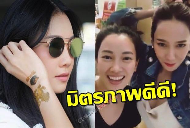 【泰国娱乐】Noon Woranuch 和 Aump 两位冻龄女神在商场偶遇