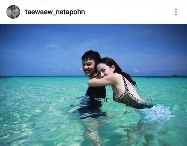 【泰国娱乐】Taew Natapohn 对男友 Ton Arch 甜蜜表白