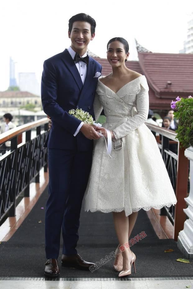 【泰国娱乐】Push Putthichai 和 Jui Warattaya 婚礼后接受采访