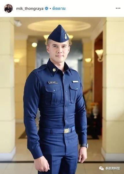 【泰国娱乐】Mik Thongraya 更新参军帅气平头照